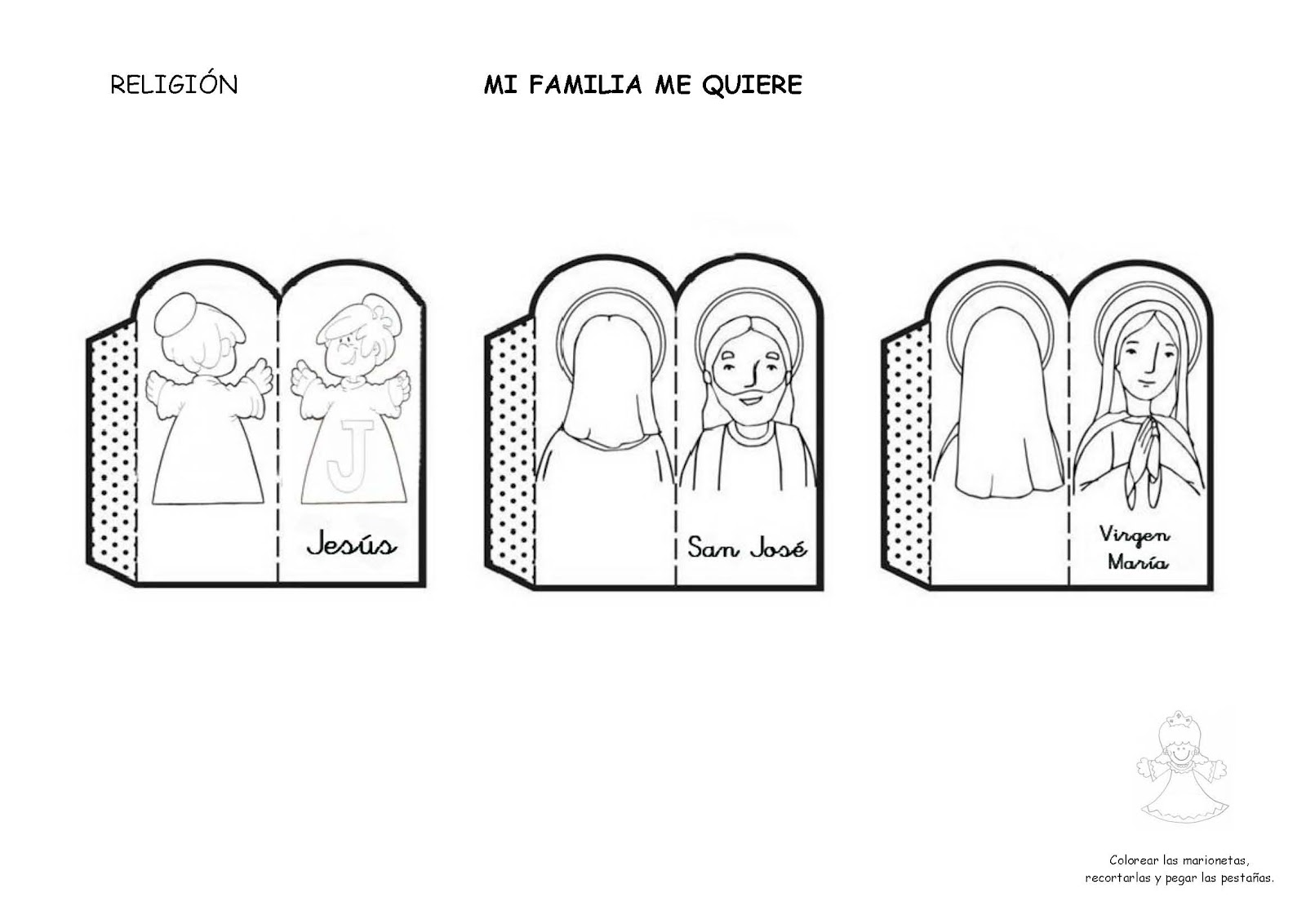 Sagrada Familia Para Colorear Dibujos Para Colorear